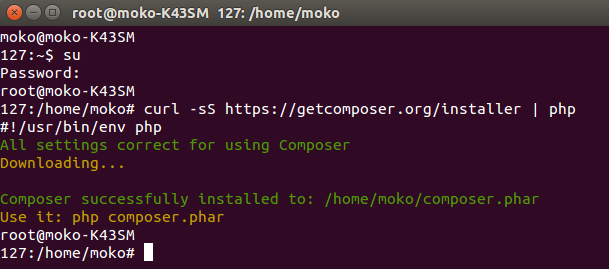 install composer in ubuntu