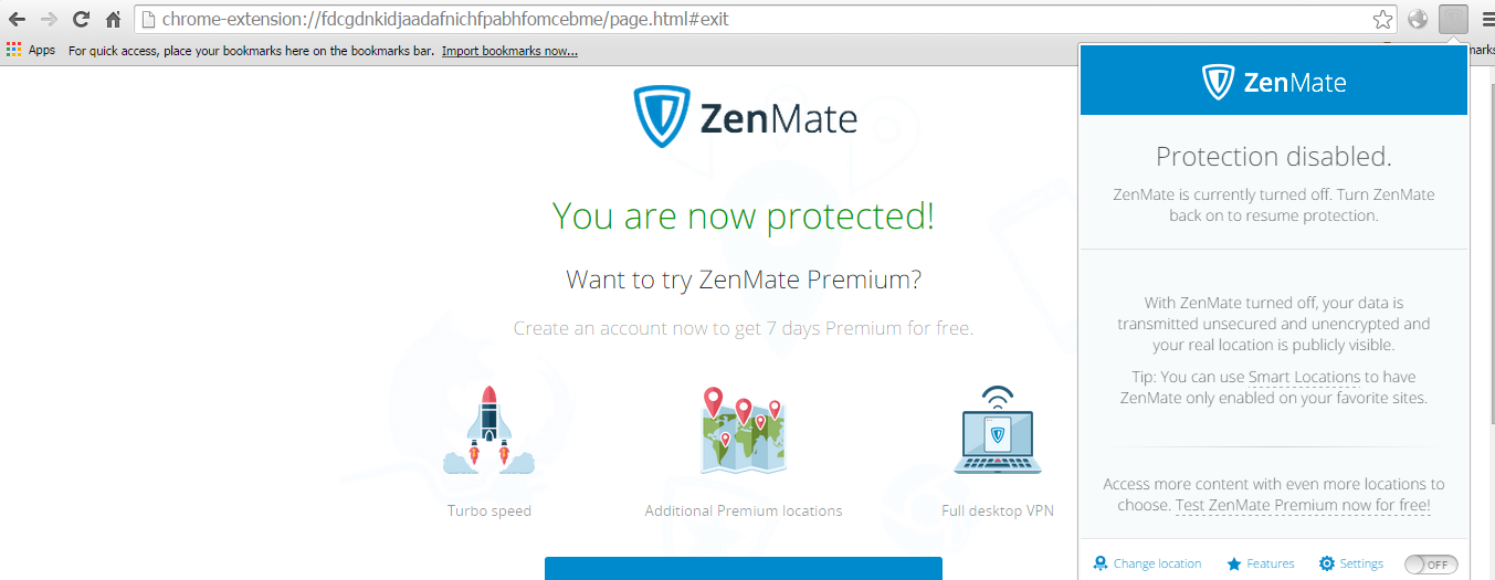 zenmate change IP address