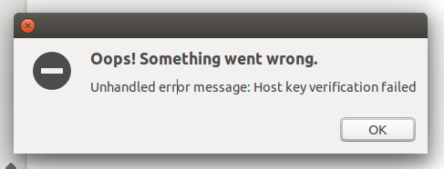 Host key verification failed