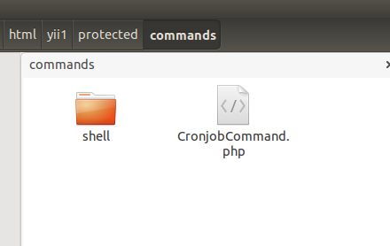 run php from console of yii