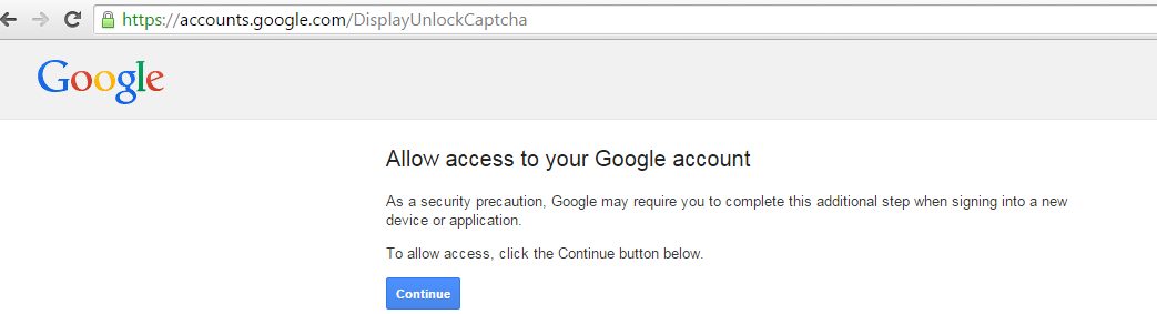 unlock captcha gmail