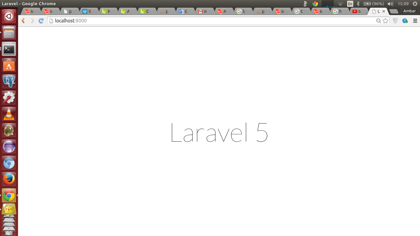 how to run laravel in url