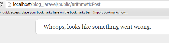 arithmetic post something went wrong