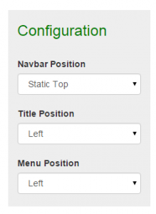 configuration menu pada boostrap